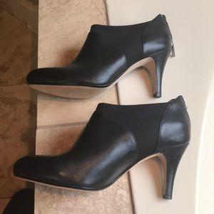 Taryn Rose black leather  booties